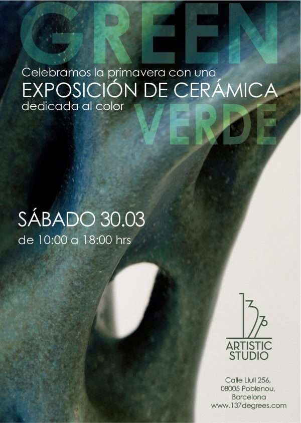 green ceramics exhibition