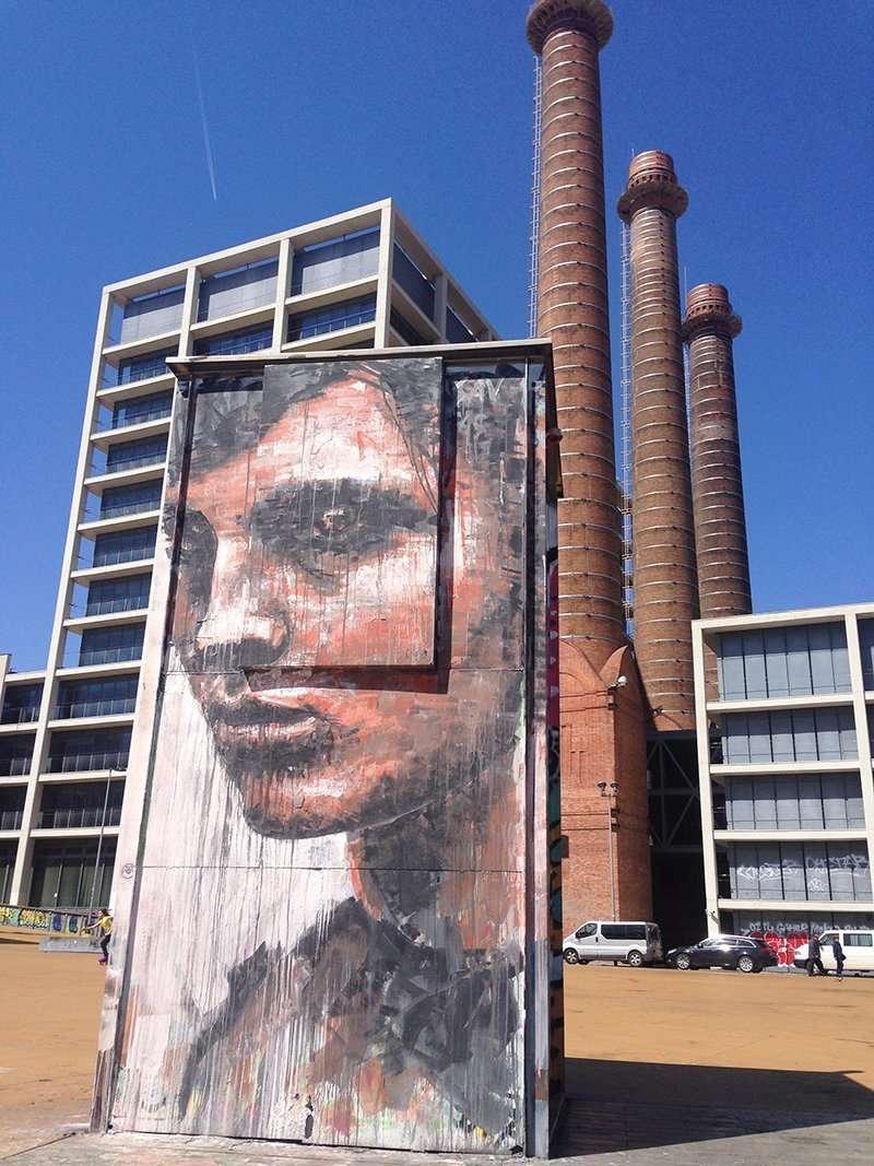 face street art barcelona