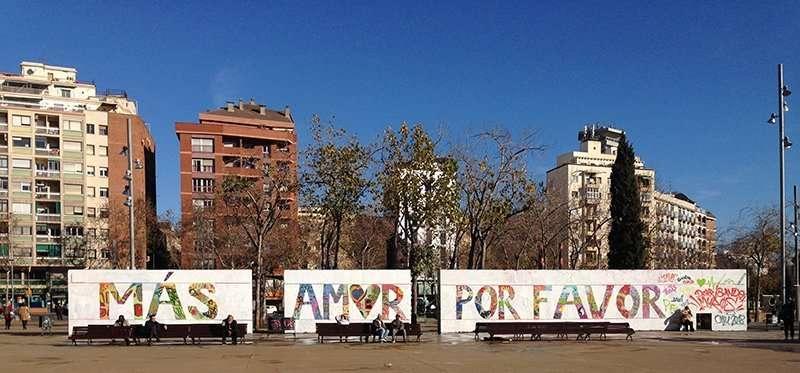 mas amor por favor street art barcelona