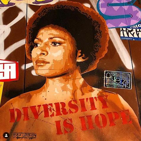 Diversity street art barcelona