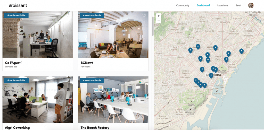 croissant coworking app barcelona