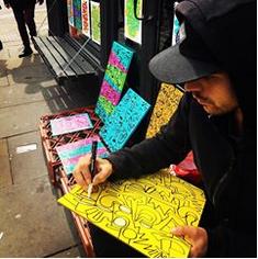 Madcins Street Artist in Barcelona