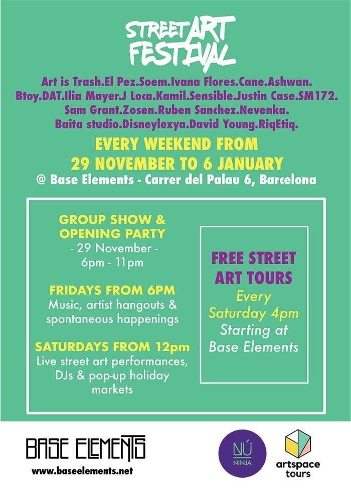 base elements street art festival