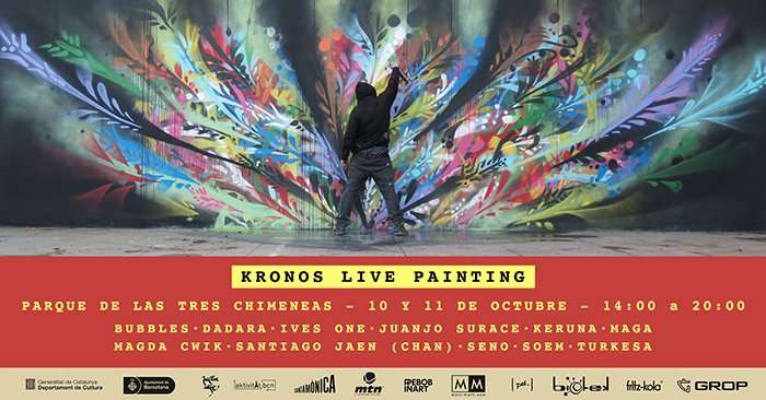 live painting barceona