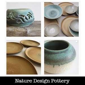 nature design pottery