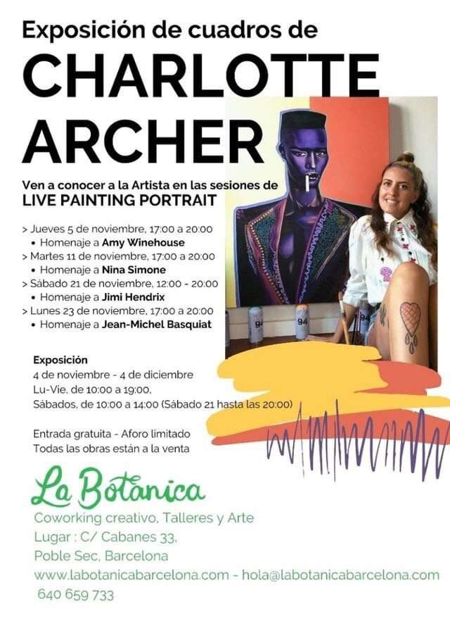 charlotte Archer exhibition live painting