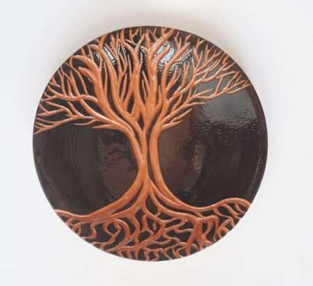 tree of life ceramic plate