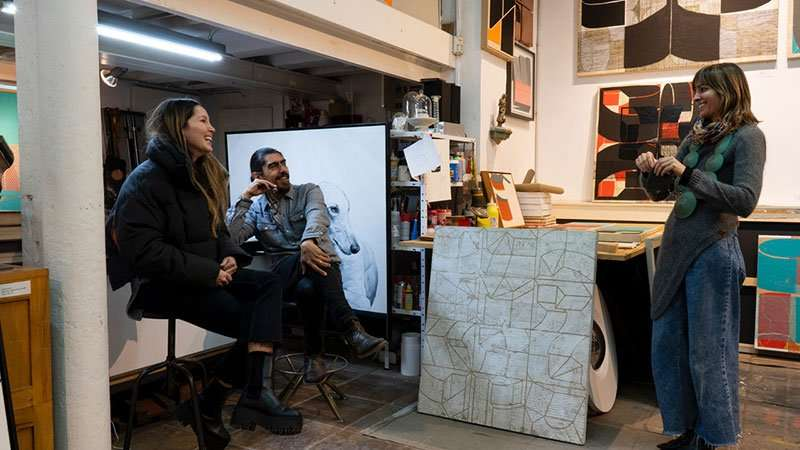 designer Monica Potvin and artist Gabriel Pereyra