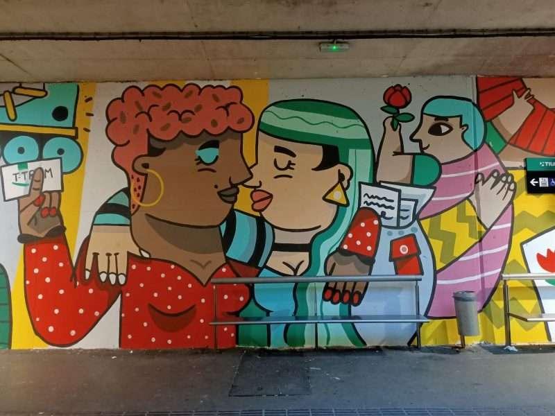 urban art mural besos barcelona
