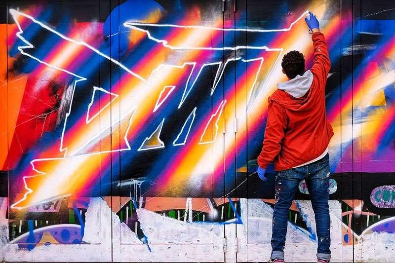 retro murals by dante arcade