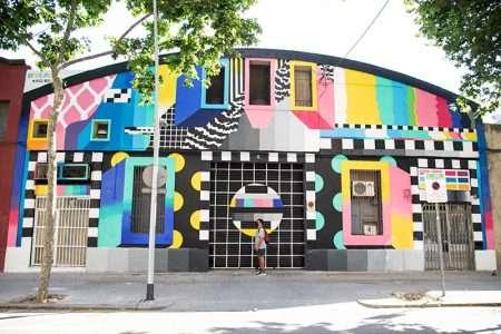 retro murals with dante arcade barcelona