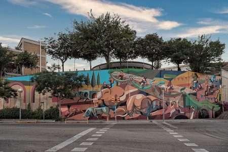 Muralism and Conservation in Trinidad Nova, Barcelona, Spain